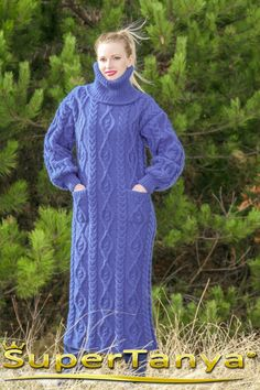 Made to order handmade cableknit soft wool dress in by supertanya