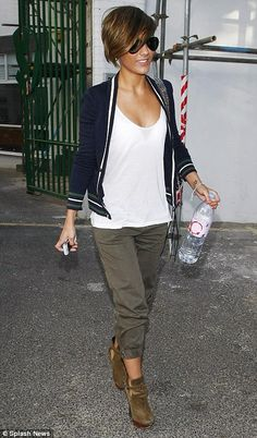 Frankie Sandford leaves a London recording studio