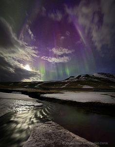 Auroras boreales desde la península de Skagi, Islandia. 5 de abril de 2014 Crédito: Johnathan Esper