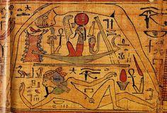 El dios de la tierra Gueb se recuesta sobre la tierra