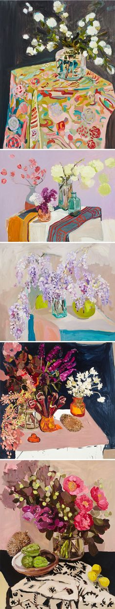 "This is the gorgeous work of Sydney based painter Laura Jones. All of these pieces are from her latest series, titled ""Punch"" … quite appropriat Still Life Art, Art Abstrait, Arte Pop, Arte Floral, Renoir, Oeuvre D'art, Monet, Painting Inspiration, Painting & Drawing"