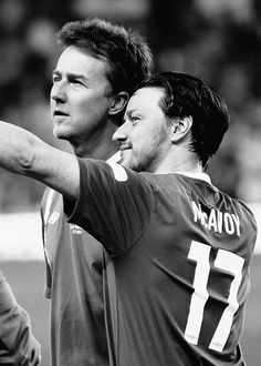 Edward Norton and James McAvoy @ Soccer Aid 2012