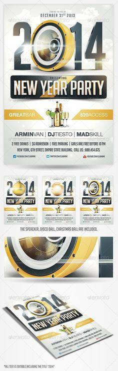 Mejores 82 imágenes de New Year Party Flyer Templates en Pinterest ...