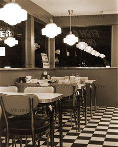 50s American Diner Retro Art Photo Hamburger Restaurant 8 X 10 Original Fine Art Photograph Printable Digital INSTANT Download Diner Decor