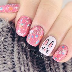 Amazing Designs Of Easter Nails: Candy Glitter Nails  #easter; #glitternails; #nailart