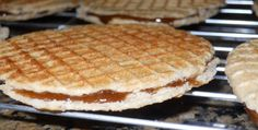 Dutch Stroopwafel Cookies ~ caramel waffle cookie with a rich, caramel-filled chewy center