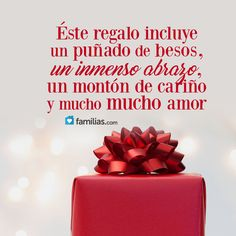 Frases de amor, matrimonio, familia, vida  www.familias.com Happy Birthday Images, Happy Birthday Wishes, Birthday Cards, Happy New Year Gif, Happy Day, Christmas Time, Xmas, Religious Quotes, Holidays And Events