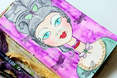 Check out some easy tricks to making Mixed Media Art using the Tombow Dual Brush Pens. I made an illustration of Marie Antoinette using nude and jewel tones