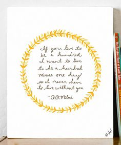 Look what I found on #zulily! 'Hundred' Print by Fresh Words Market #zulilyfinds