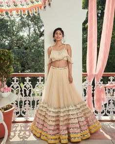 Latest Collection of Lehenga Choli Designs in the gallery. Lehenga Designs from India's Top Online Shopping Sites. Indian Bridal Fashion, Indian Wedding Outfits, Bridal Outfits, Indian Outfits, Indian Engagement Outfit, Wedding Dresses, Indian Lehenga, Red Lehenga, Anarkali