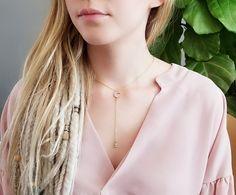 Lariat Necklace, Arrow Necklace, Everyday Necklace, Chokers, Design, Fashion, Moda, Fashion Styles