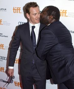 Hahaa, this time it is Steve going for the kiss! But not quite like fassy, he goes in for the lips, lol!!!!! :D