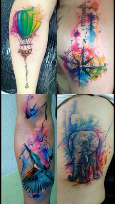 Bright, Colourful Tattoos