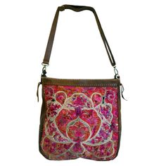 The Luxe Project 50 Years Old, Brown Leather, Buttons, Colorful, Shoulder Bag, Handbags, Embroidery, Luxury, Store