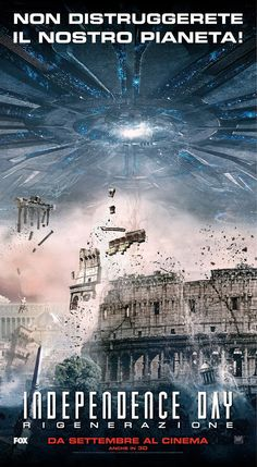 Independence day (USA 2016) - poster Italia
