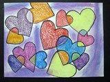 Artsonia Art Exhibit :: Hawthorne 2nd Grade Overlapping Hearts