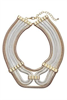 Grecian Loop Necklace -gorgeous with a white dress #witcherywishlist