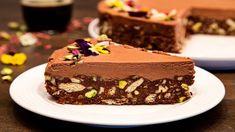 Tort de biscuiti cu nuci si ciocolata - YouTube Romanian Desserts, Food Cakes, Vegan Breakfast, Nutella, Cake Recipes, Sweet Treats, Cheesecake, Deserts, Food And Drink