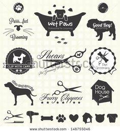 Vector Set: Pet Grooming Labels by James Daniels, via ShutterStock