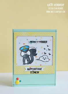 Sweet Stamp Shop Stinky Skunk  Hats Stamps available in Australia from www.dawnlewis.com.au #sweetstampshop #stamping #skunk