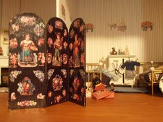 dolls houses and minis: How to Make a Screen for your Dolls House