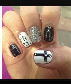 White/black- cross
