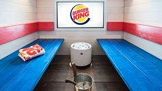 The world's first fast food sauna has been launched in Helsinki by Burger King and it allows up to 15 people to enjoy their burger while relaxing in the steam - NEWS Helsinki, Finland Food, Restaurants, Spa Rooms, Fast Food Chains, Mobile Shop, Spa Offers, Branding, Recipe Images