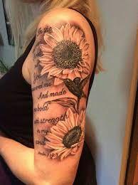 Výsledek obrázku pro shoulder tattoos for women quotes and flowers