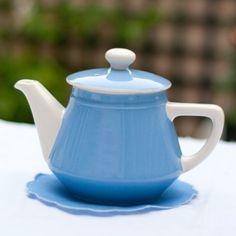 théière bleue et blanche Villeroy & Boch - 18€ --> lecitrongivre.com