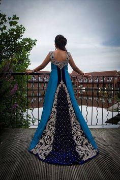 Soma Sengupta Indian Bridal- Beautiful Blue!