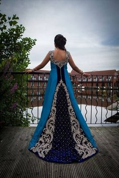 Soma Sengupta Indian Bridal- Beautiful Blue!