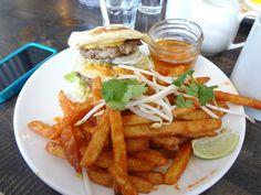 Lisa Marie  Double Pancake and Pork Burger  http://brunchosaurus.com/lisa-marie/