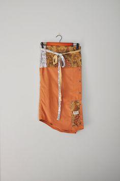 Upcycled Boho BeckyRose Wrap Skirt/ TerraCotta by RebirthRecycling, $55.00