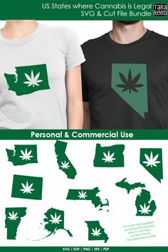 US States where Cannabis is Legal - Marijuana SVG and Cut Files for Crafters T Shirty, Tara Reed, Meant To Be Quotes, Character Quotes, State Outline, U.s. States, Printed Materials, Sell On Etsy, Usa