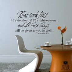 Another wall decal. I would love to cover my walls with Scripture by using these.