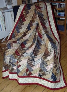 French Braid Quilt Instructions | And now the Quilt is waiting to come to a friend who is going into ...