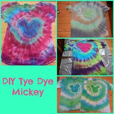 Faith, Grace and motherhood: DIY tye dye Mickey shirt