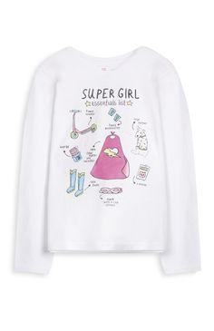 Primark - White Super Girl Top