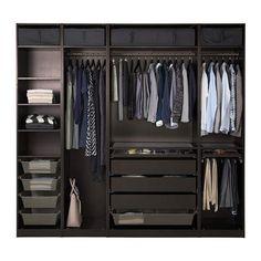a doors ikea closet design ikea pax system ikea Bedroom Closet Design, Master Bedroom Closet, Bedroom Wardrobe, Wardrobe Design, Closet Designs, Wardrobe Ideas, Closet Ideas, Ikea Wardrobe, Black Wardrobe Closet