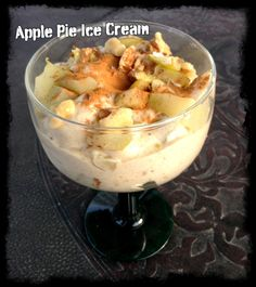 Apple Pie Ice Cream - SCD if homemade milk & ok applesauce Paleo Apple Pie, Apple Pie Recipe Easy, Easy Pie Recipes, Primal Recipes, Real Food Recipes, Diet Recipes, Cooking Recipes, Apple Pie Ice Cream, Paleo Ice Cream