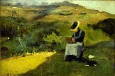 Lorenzo Dellani, La pittrice, olio su tavola, 33x25 cm
