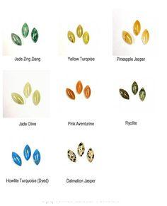 Navette Cabochons Cabs 15x7mm in 8 Gemstone options Jade
