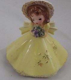Vintage Josef Originals Birthday Doll of the Month August Girl Figurine in Collectibles, Decorative Collectibles, Decorative Collectible Brands | eBay