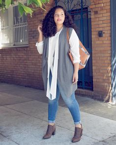Another look from my '1 vest 3 ways' article on theoutfit.com with @kohls. #everydayrunway #fallstyle #curvyfashion #ad