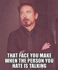 That face Iron man meme