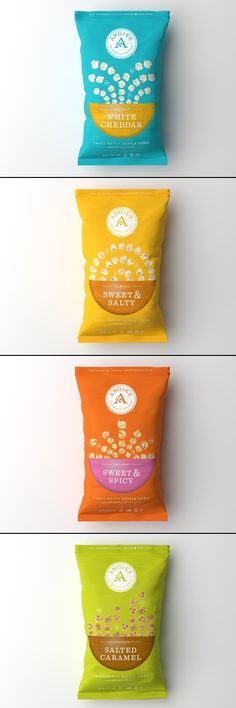 59 super Ideas for design packaging bag colour Popcorn Packaging, Chip Packaging, Branding And Packaging, Packaging Snack, Food Packaging Design, Bottle Packaging, Pretty Packaging, Product Packaging, Packaging Ideas