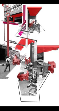 Pasar Baru's Acronym Interraction Analogy/ Architecture Diagram d. - Pasar Baru's Acronym Interraction Analogy/ Architecture Diagram diagram - Collage Architecture, Architecture Mapping, Landscape Architecture Design, Concept Architecture, Architecture Diagrams, Architecture Interiors, Modern Architecture, Illustration Landscape, Planer Layout