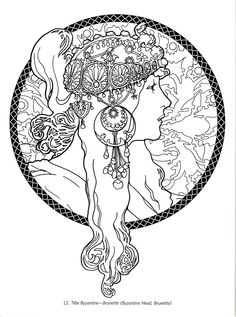 Best Alphonse Mucha Coloring Pages