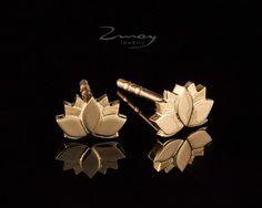 Lotus Earrings, Tiny Yoga Earring, Everyday Elegant Earrings, Cute Studs