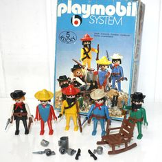 3241 playmobil mexicains cowboys en boite - Play-Original
